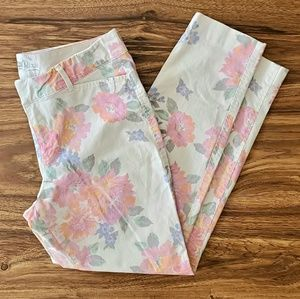 OLD NAVY pixie floral ankle Jeans